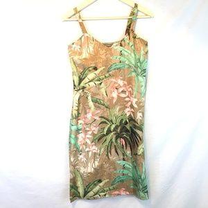 Tommy Bahama 100% Silk Slip Dress Tropical Floral